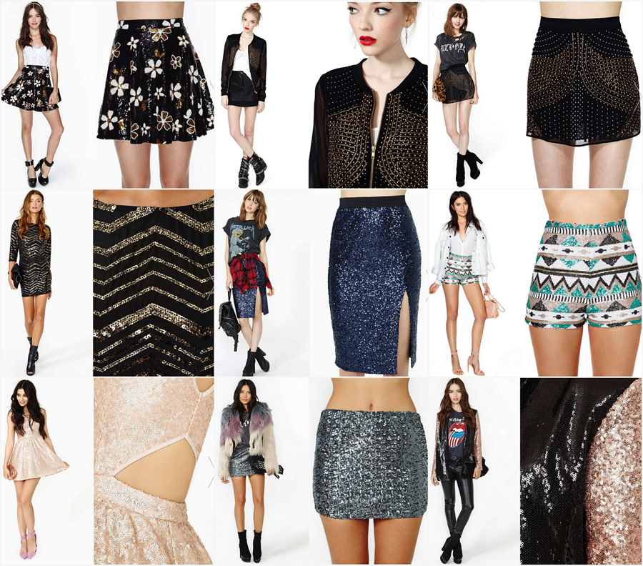 FashionCoolture NastyGal sequins