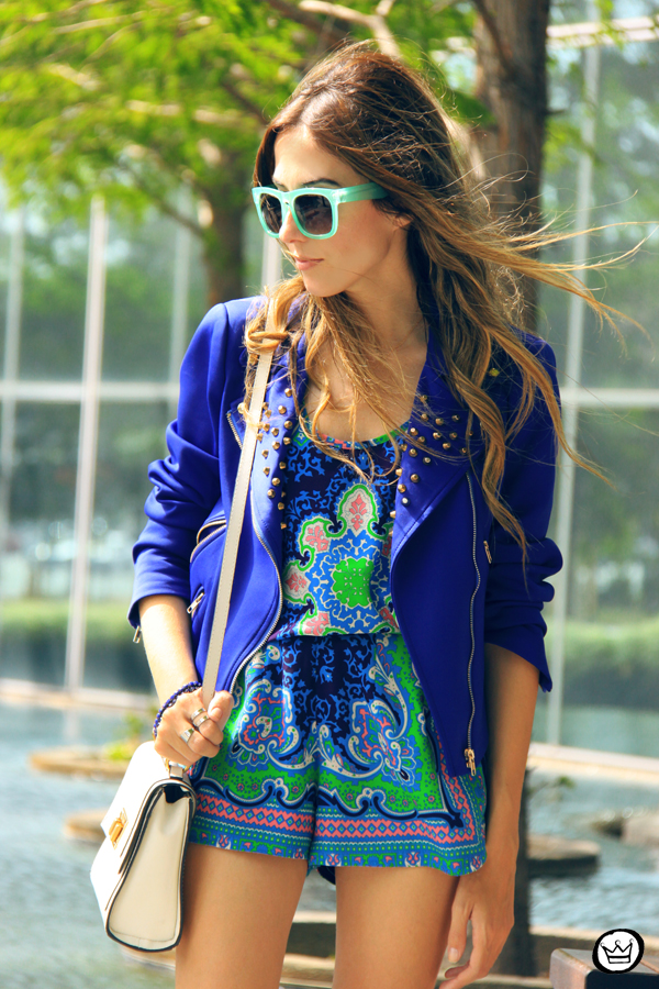 FashionCoolture - 03.05.2014 look du jour Dallas printed suit blue jacket (2)