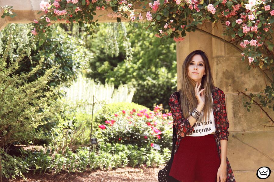FashionCoolture - 05.05.2014 look du jour H&M floral burgundy skirt outfit (2)