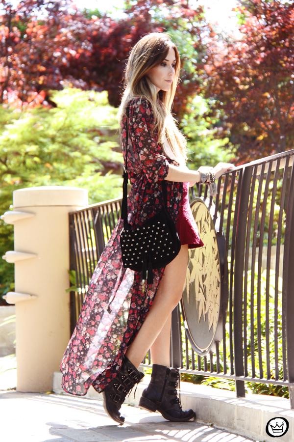 FashionCoolture - 05.05.2014 look du jour H&M floral burgundy skirt outfit (3)