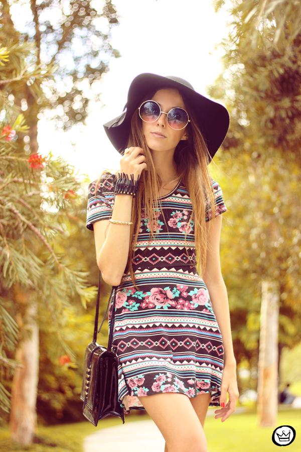 FashionCoolture - 11.05.2014 look du jour ethnic printed dress  (2)