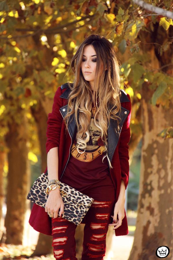 FashionCoolture - 26.05.2014 look du jour Displicent burgundy jeans rocker (2)