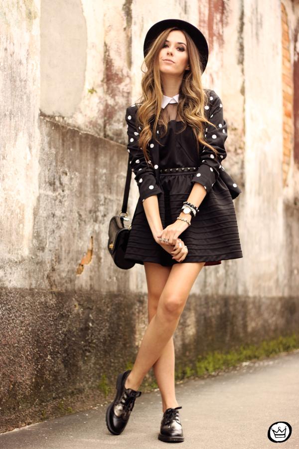 FashionCoolture - 28.05.2014 look du jour little black dress oxfords (1)