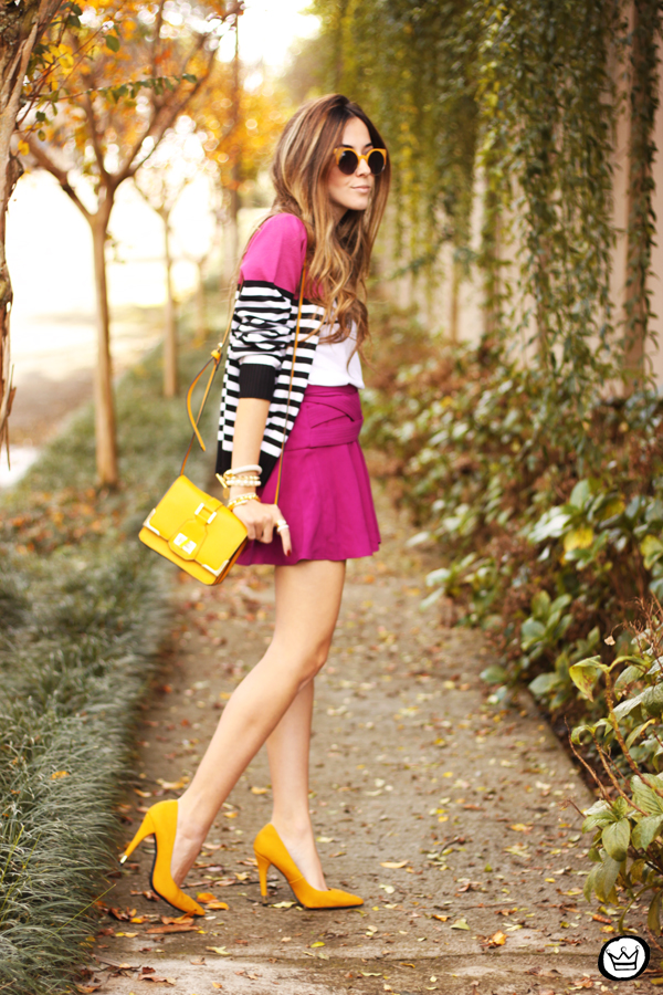 FashionCoolture - 10.06.2014 look du jour Dafiti pink skirt yellow shoes (1)