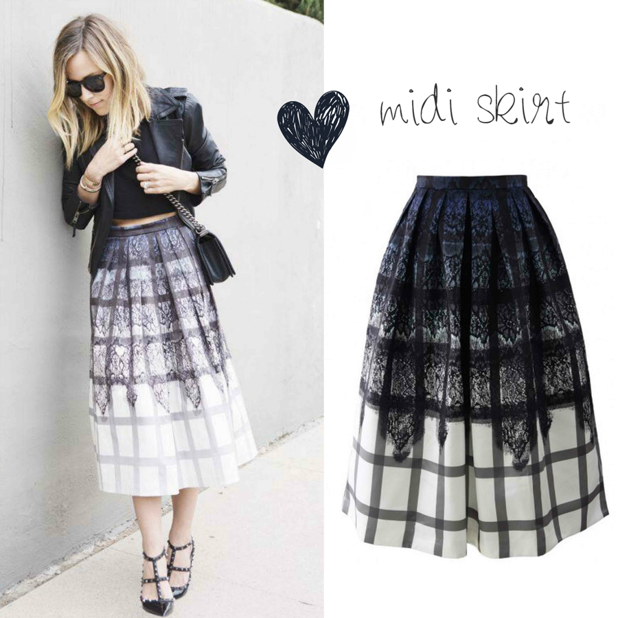 FashionCoolture - midi skirt Chicwish
