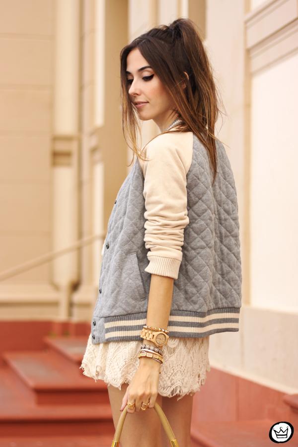 FashionCoolture - 16.03.2015 look du jour Gap sporty jacket lace dress (2)