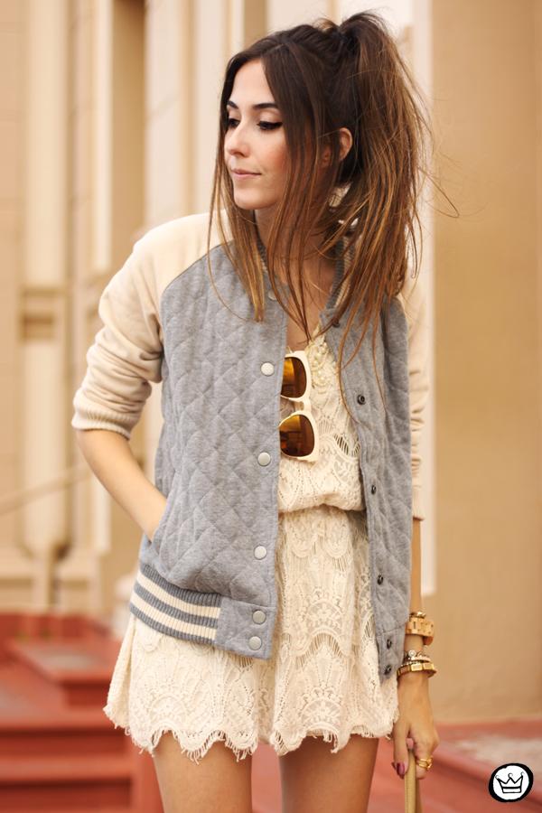 FashionCoolture - 16.03.2015 look du jour Gap sporty jacket lace dress (5)