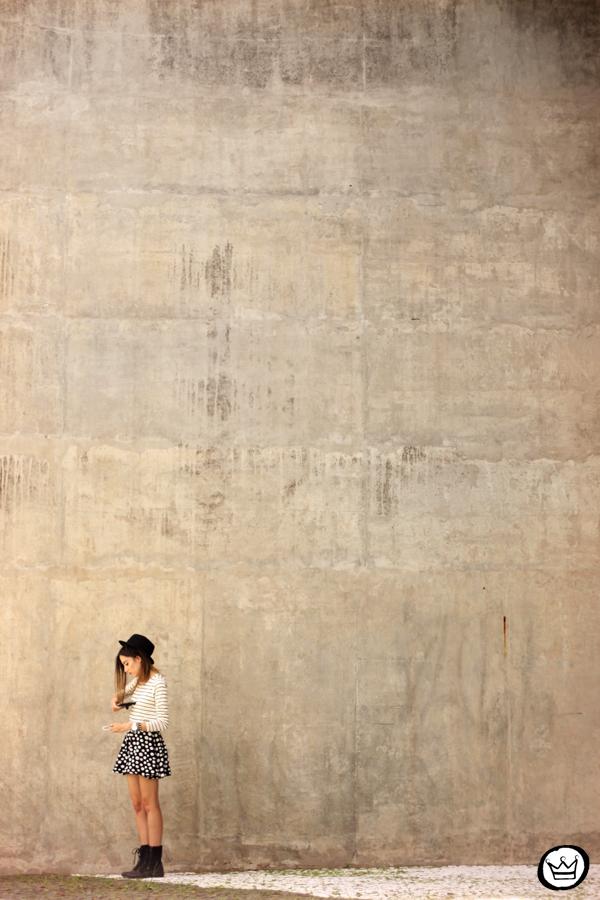 FashionCoolture - 19.03.2015 look du jour Sly Wear striped top dots skirt (3)
