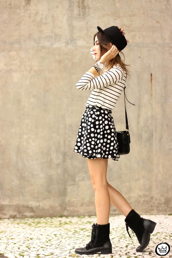 FashionCoolture - 19.03.2015 look du jour Sly Wear striped top dots skirt (5)