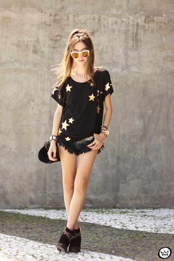 FashionCoolture - 21.03.2015 look du jour Wildfox mirrored golden sunglasses black stars (1)