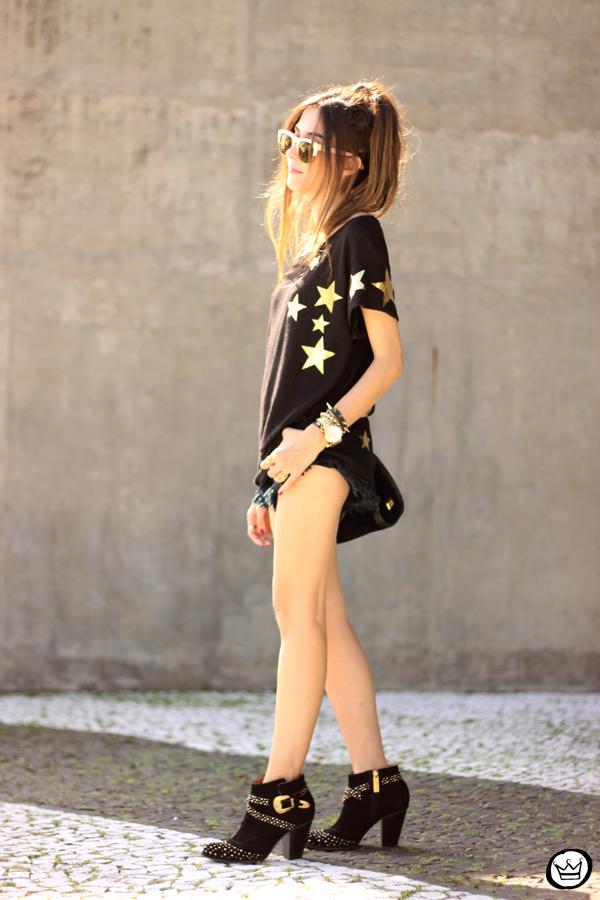 FashionCoolture - 21.03.2015 look du jour Wildfox mirrored golden sunglasses black stars (3)