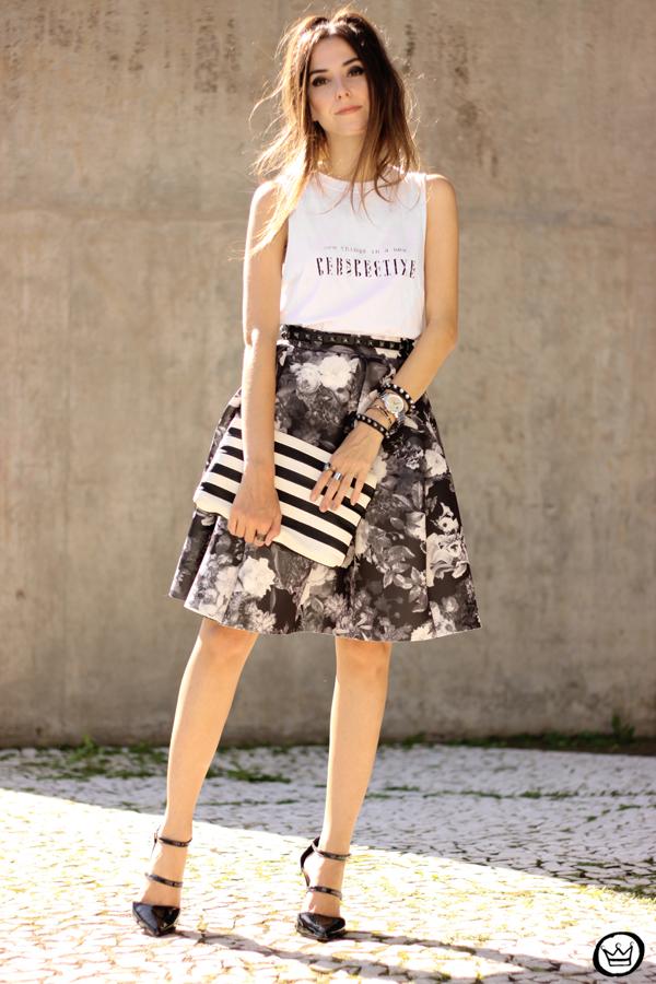 FashionCoolture - 04.04.2015 look du jour midi skirt floral blackandwhite (6)