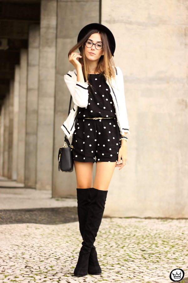 FashionCoolture - 07.04.2015 look du jour Dafiti polka dots black and white outfit (1)