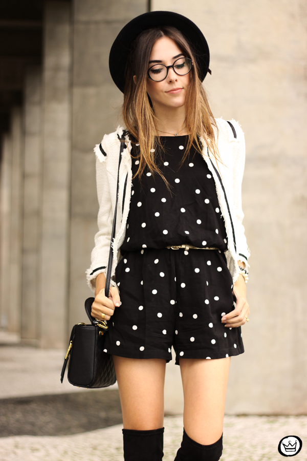 FashionCoolture - 07.04.2015 look du jour Dafiti polka dots black and white outfit (2)