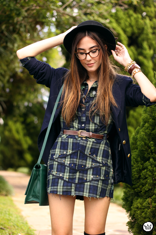 FashionCoolture - 09.04.2015 look du jour Mondabelle plaid navy blue (6)