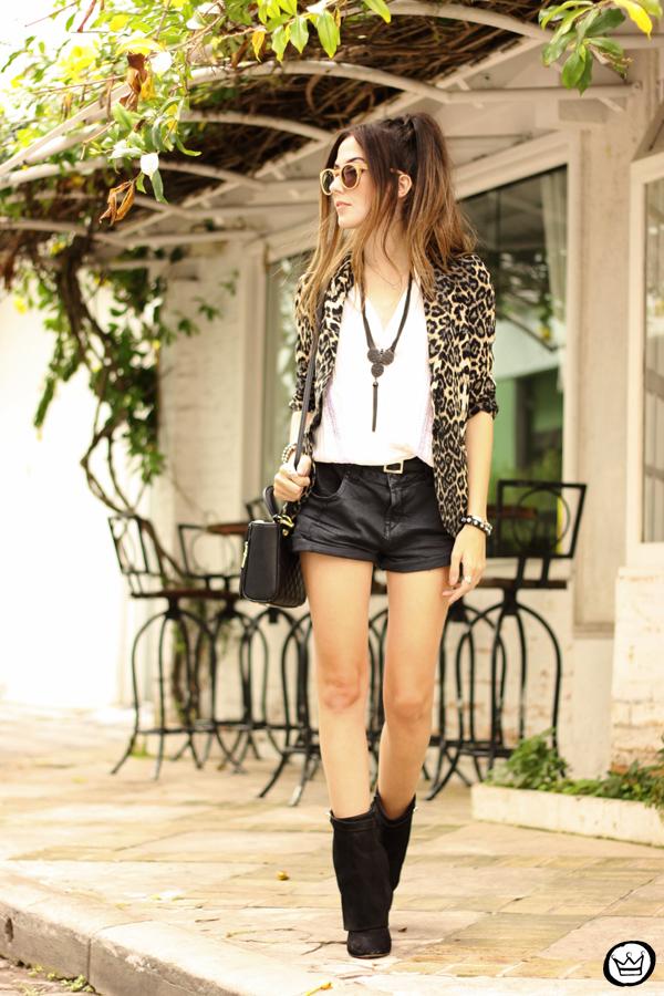 FashionCoolture - 13.04.2015 look du jour Shoulder leopard print blazer (1)
