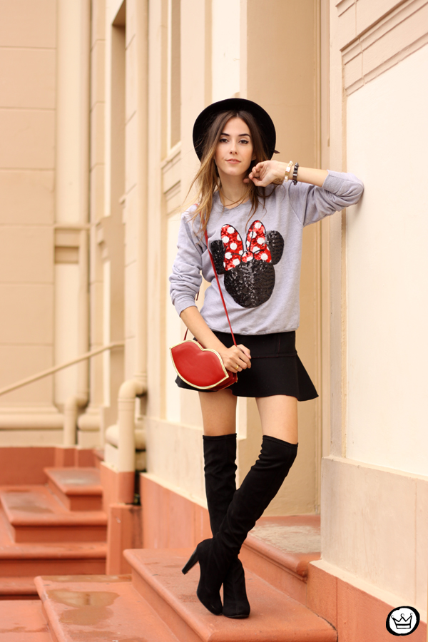 FashionCoolture - 15.04.2015 look du jour Minnie jumper sequined Ohkei (3)