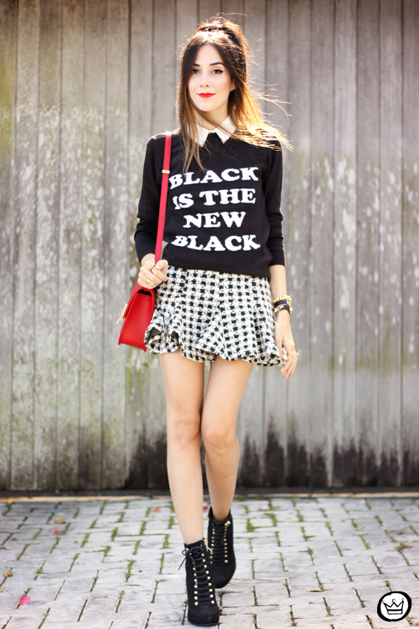 FashionCoolture - 25.04.2015 look du jour Displicent black and white skirt (1)