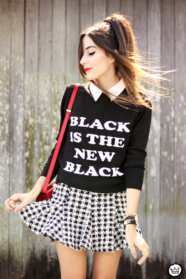 FashionCoolture - 25.04.2015 look du jour Displicent black and white skirt (2)