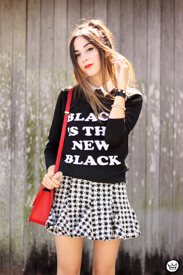 FashionCoolture - 25.04.2015 look du jour Displicent black and white skirt (5)