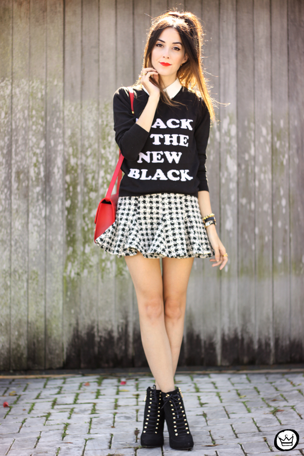 FashionCoolture - 25.04.2015 look du jour Displicent black and white skirt (6)