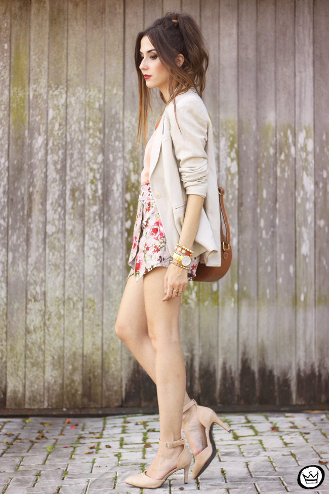 FashionCoolture - 23.05.2015 look du jour iclothing floral skirt nude outfit (4)