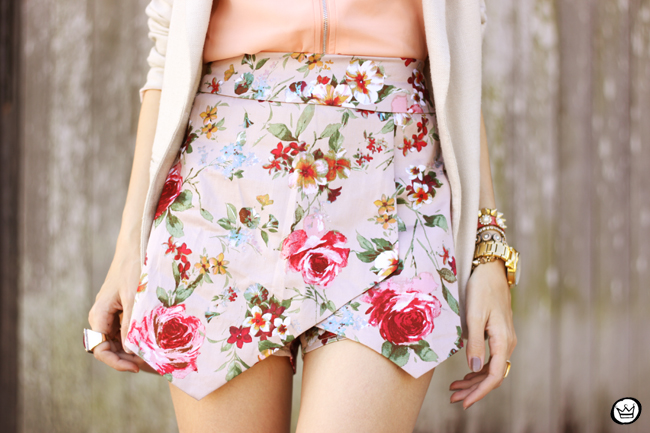 FashionCoolture - 23.05.2015 look du jour iclothing floral skirt nude outfit (5)
