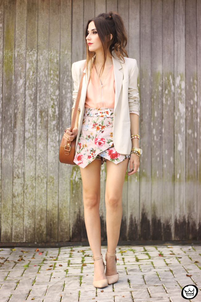 FashionCoolture - 23.05.2015 look du jour iclothing floral skirt nude outfit (6)