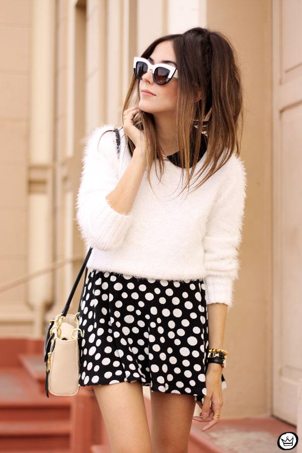 FashionCoolture - 11.05.2015 look du jour Lilly's Closet SlyWear saia de bolinhas (2)