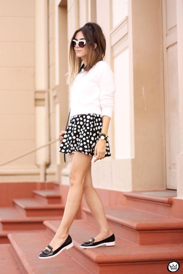 FashionCoolture - 11.05.2015 look du jour Lilly's Closet SlyWear saia de bolinhas (3)