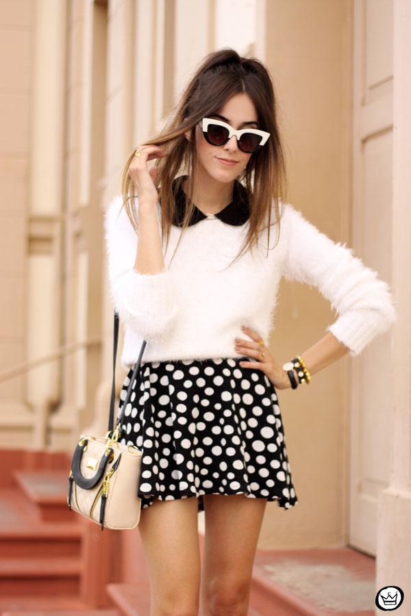 FashionCoolture - 11.05.2015 look du jour Lilly's Closet SlyWear saia de bolinhas (5)