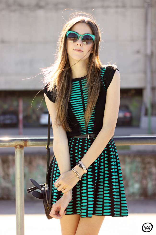 FashionCoolture - 10.06.2015 look du jour Displicent dress green and black outfit (2)
