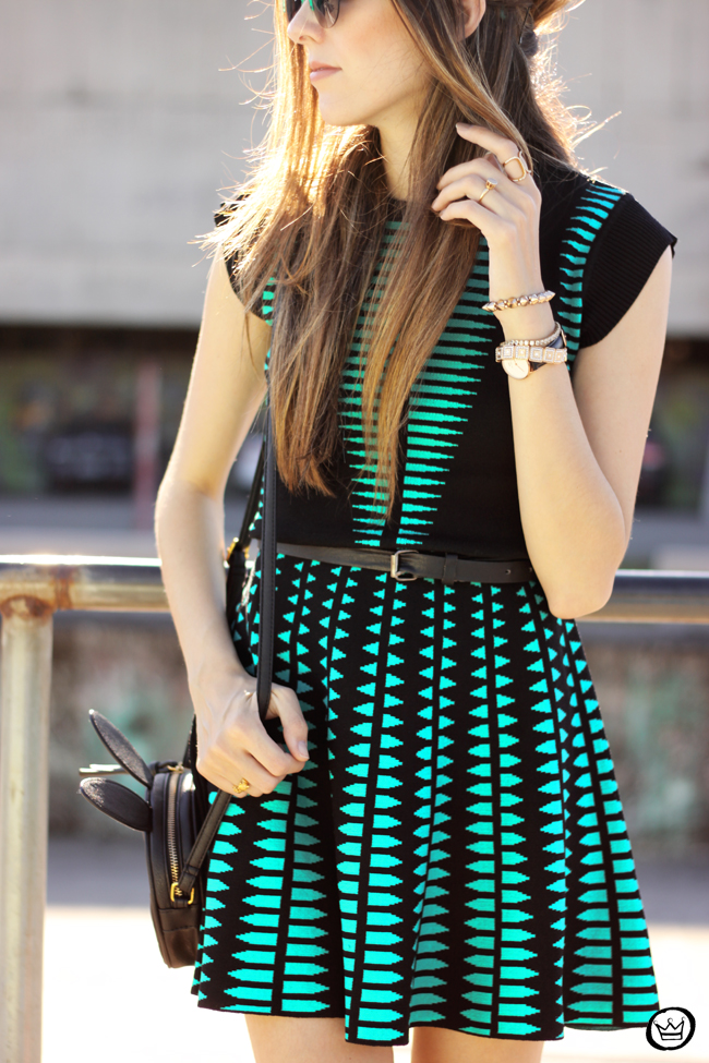 FashionCoolture - 10.06.2015 look du jour Displicent dress green and black outfit (4)