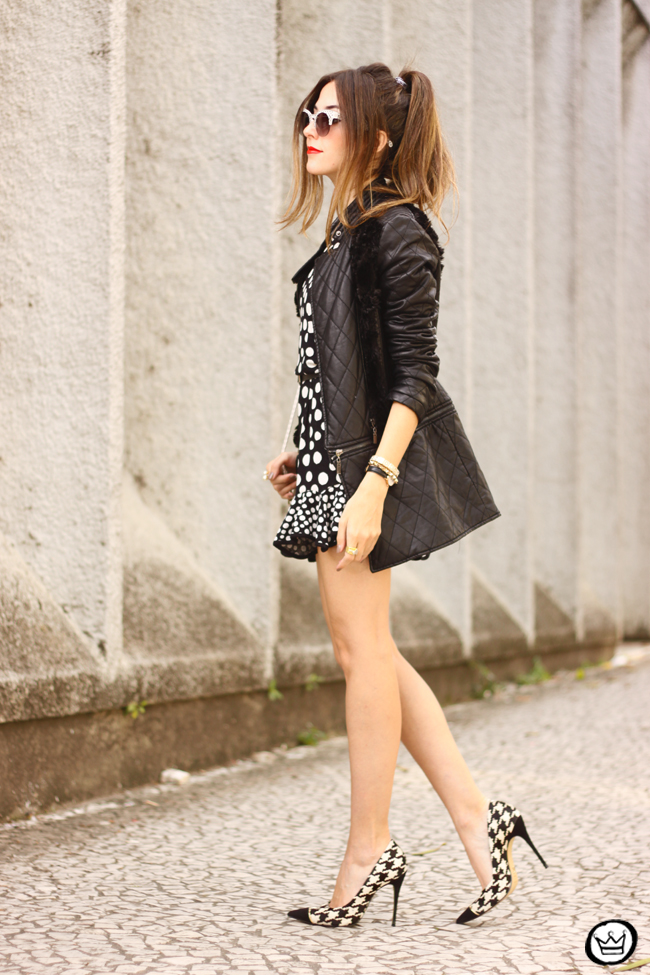 FashionCoolture - 22.06.2015 look du jour Slywear dots black and white outfit (10)