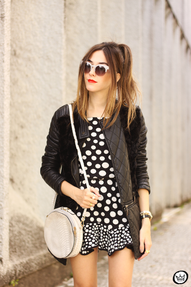 FashionCoolture - 22.06.2015 look du jour Slywear dots black and white outfit (11)