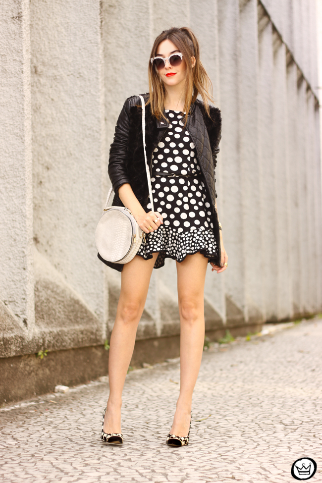 FashionCoolture - 22.06.2015 look du jour Slywear dots black and white outfit (12)