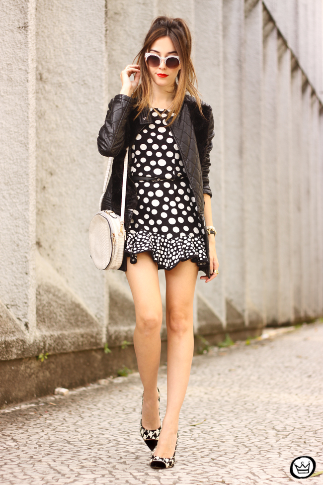 FashionCoolture - 22.06.2015 look du jour Slywear dots black and white outfit (7)