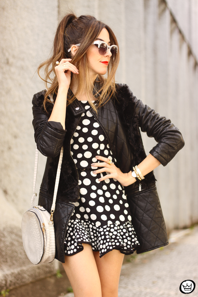 FashionCoolture - 22.06.2015 look du jour Slywear dots black and white outfit (9)