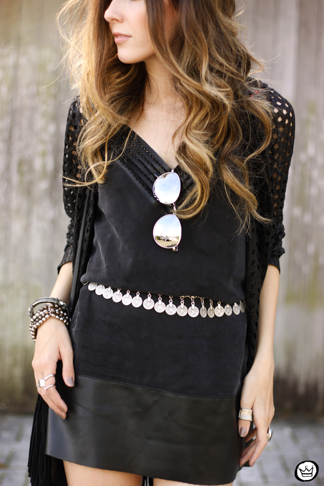 FashionCoolture - 28.06.2015 look du jour Shoulder all black boho outfit (6)