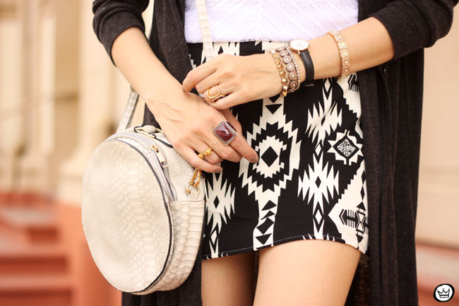 FashionCoolture - 07.07.2015 look du jour Lotus black and white ethnic skirt long cardigan (3)