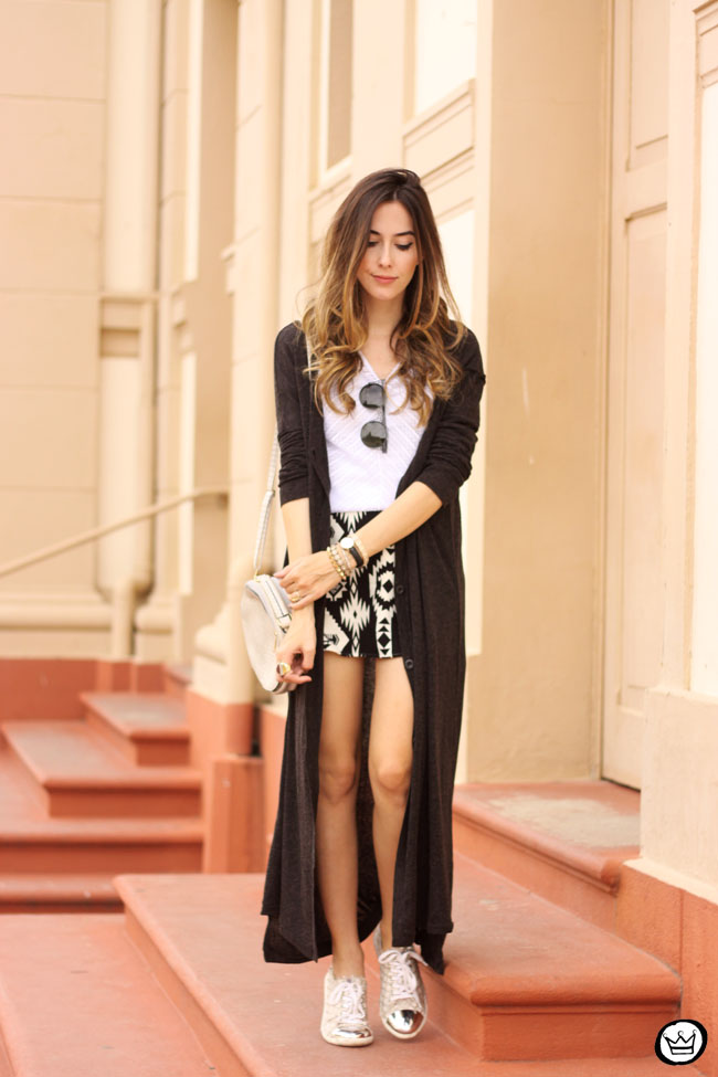 FashionCoolture - 07.07.2015 look du jour Lotus black and white ethnic skirt long cardigan (7)
