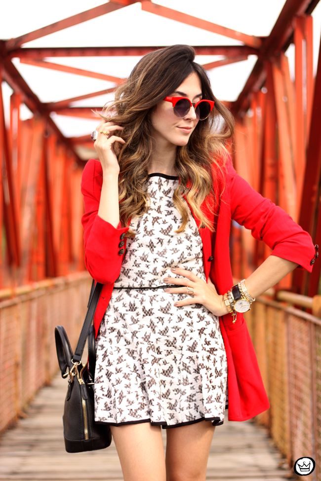 FashionCoolture - 14.07.2015 look du jour SlyWear printed dress red coat (2)
