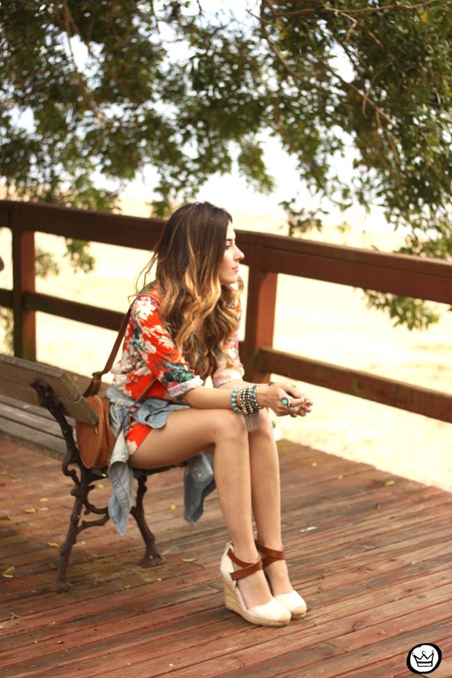FashionCoolture - 21.07.2015 look du jour Slywer floral print jumpsuit denim (2)