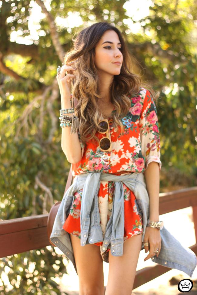 FashionCoolture - 21.07.2015 look du jour Slywer floral print jumpsuit denim (3)