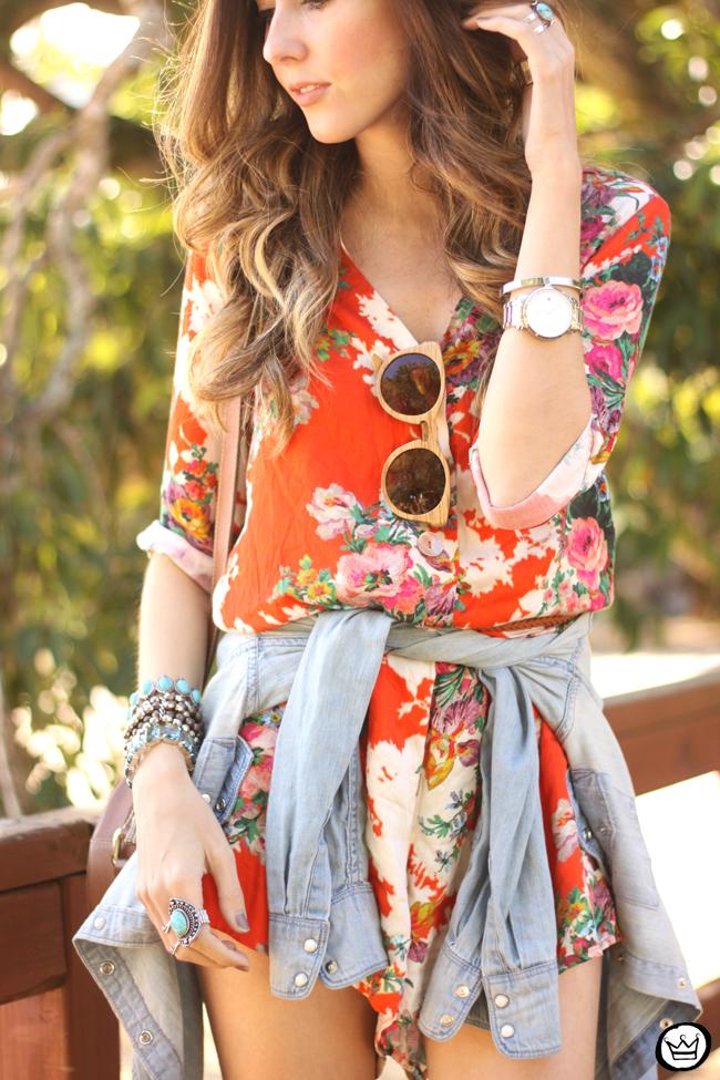 FashionCoolture - 21.07.2015 look du jour Slywer floral print jumpsuit denim (6)