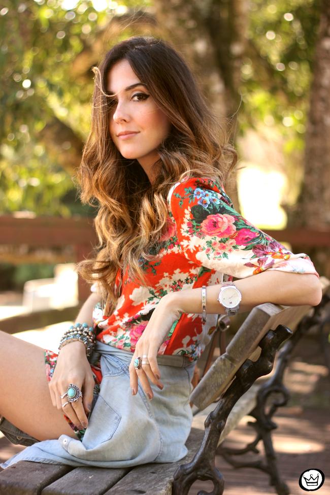 FashionCoolture - 21.07.2015 look du jour Slywer floral print jumpsuit denim (7)