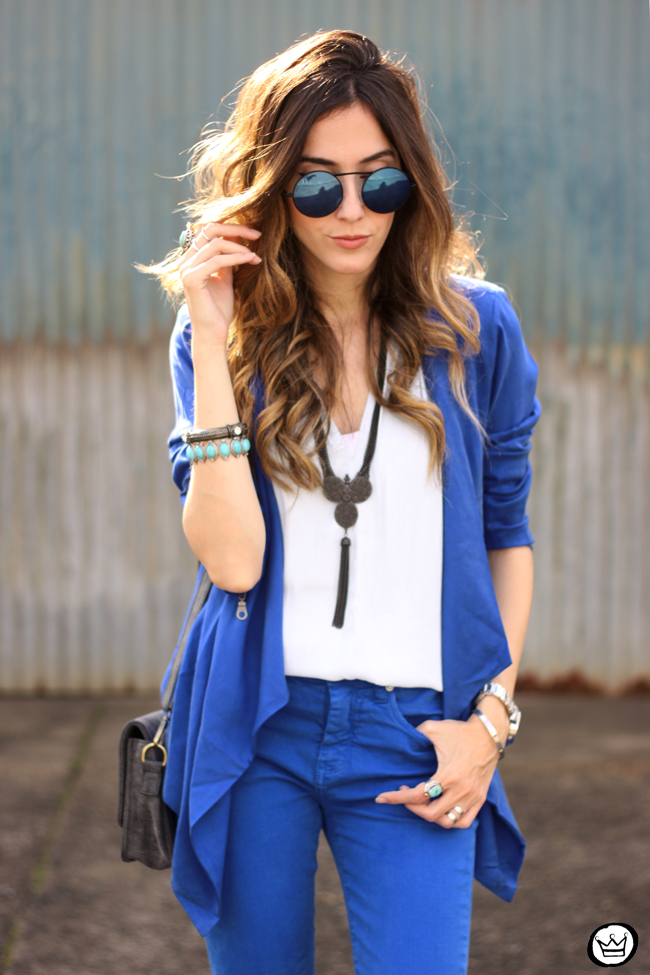 FashionCoolture - 22.07.2015 look du jour Shoulder royal blue outfit summer (2)