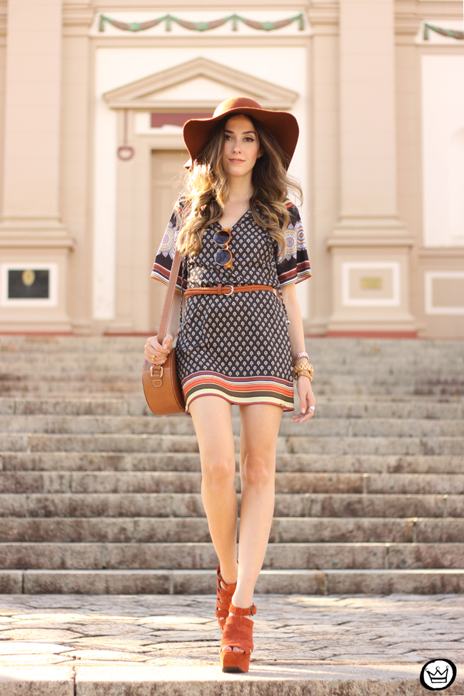 FashionCoolture - 23.07.2015 look du jour Displicent 70's printed dress (1)