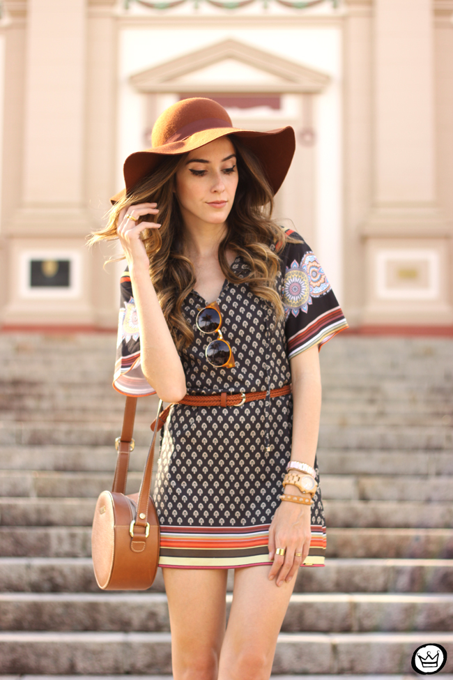 FashionCoolture - 23.07.2015 look du jour Displicent 70's printed dress (2)