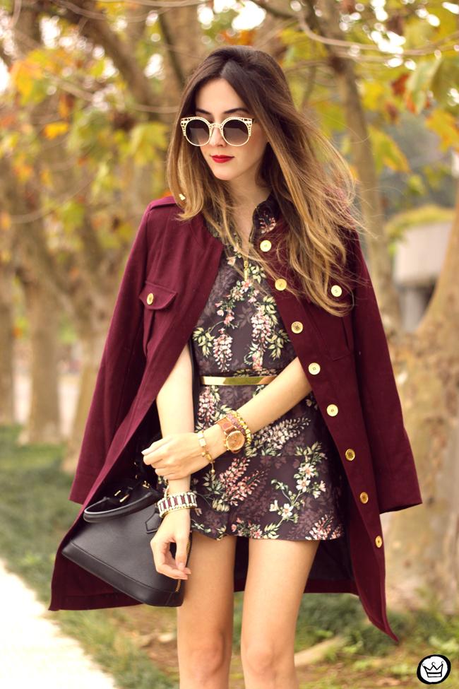 FashionCoolture - 27.07.2015 look du jour AMARO marsalla coat floral suit (2)